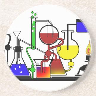 LAB WARE - LABORATORY  GLASSWARE MAD SCIENTIST SANDSTONE COASTER