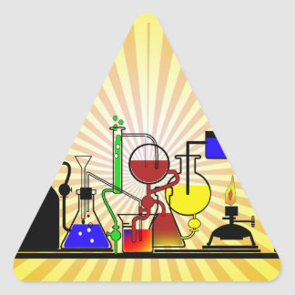 LAB WARE - LABORATORY  GLASSWARE MAD SCIENTIST TRIANGLE STICKER