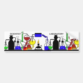 LAB WARE - LABORATORY GLASSWARE SETUP CAR BUMPER STICKER