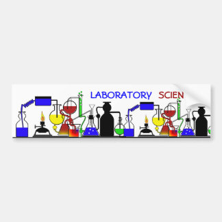 LAB WARE - LABORATORY GLASSWARE SETUP BUMPER STICKERS