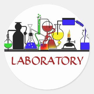 LAB WARE - LABORATORY GLASSWARE SETUP CLASSIC ROUND STICKER