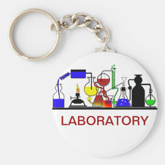 LAB WARE - LABORATORY GLASSWARE SETUP KEYCHAIN
