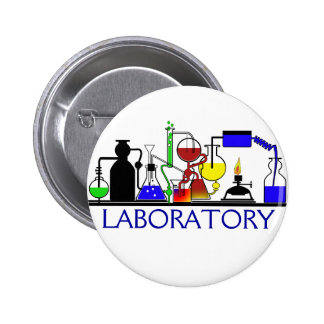 LAB WARE - LABORATORY GLASSWARE SETUP PINBACK BUTTON
