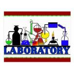 LAB WARE - LABORATORY GLASSWARE SETUP POST CARD