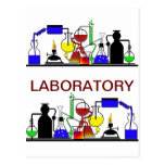 LAB WARE - LABORATORY GLASSWARE SETUP POSTCARDS