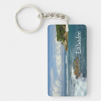 Labadee Seascape Double-Sided Rectangular Acrylic Keychain