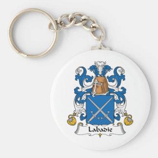 Labadie Family Crest Basic Round Button Keychain