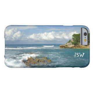 Labadie Seascape Monogrammed Barely There iPhone 6 Case