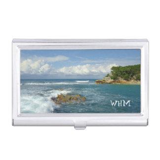 Labadie Seascape Monogrammed Business Card Holder