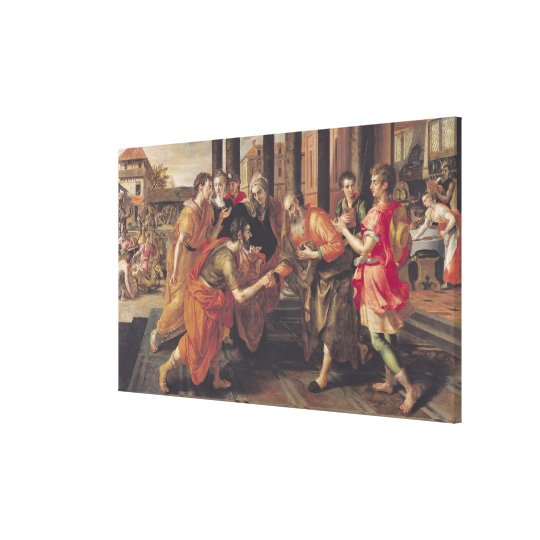Laban Presenting Eliezer to his Father, 1562 Canvas Print