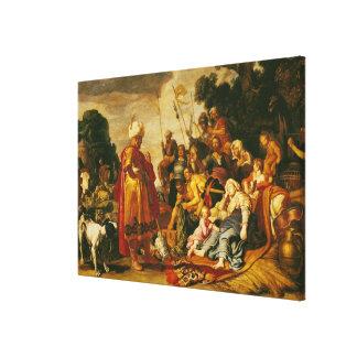 Laban que busca para los ídolos impresiones de lienzo