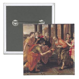 Laban que presenta Eliezer a su padre, 1562 Pin Cuadrada 5 Cm