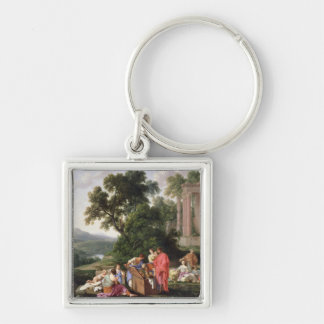 Laban Searching for the Idols, 1647 Keychain