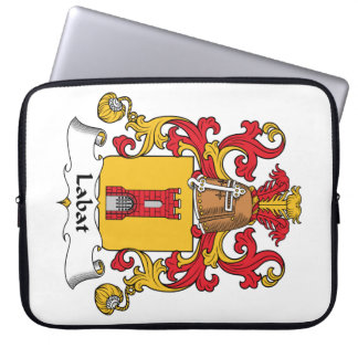 Labat Family Crest Laptop Sleeves