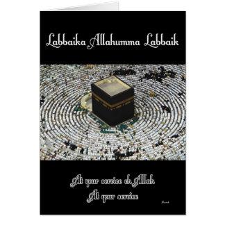 Labbaika Allahumma Labbaik Tarjetón