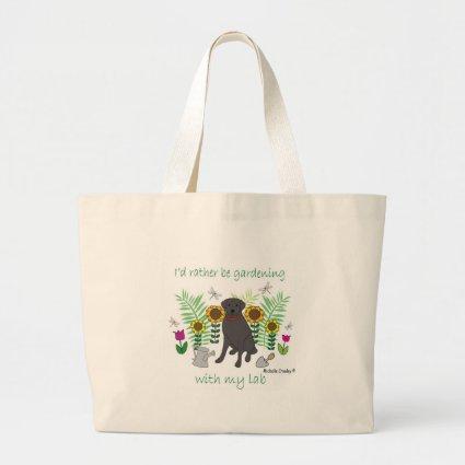 LabBlack Jumbo Tote Bag