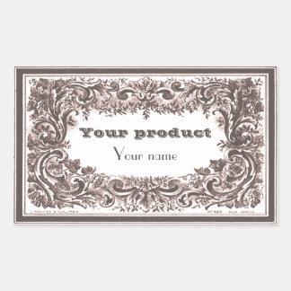 Label 1 Elenore Rectangle Stickers