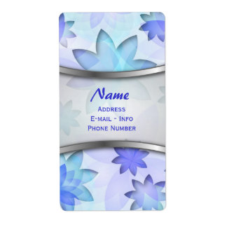Label abstract lotus flower