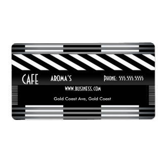 Label Address Business Art Deco Cafe Coffee Shop Shipping Label