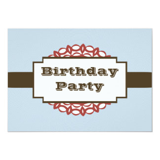 Label Birthday Party Invitations
