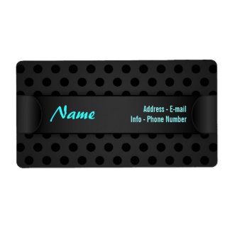 Label Black Polka Dot