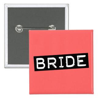 Label Bride Pinback Button