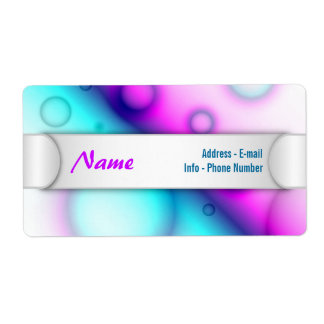 Label Bubbles Abstract Background
