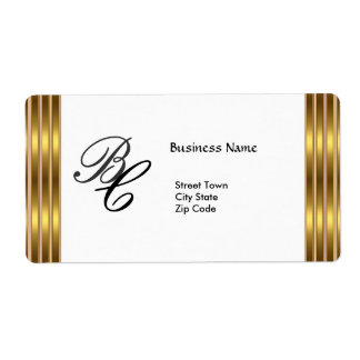 Label Business Elegant Black Gold White Elite
