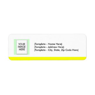Label Choose Color Yellow Line Your Image Template