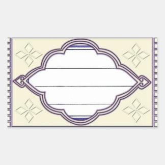 label déco rectangular sticker