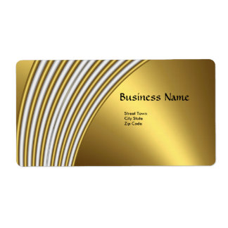 Label Elegant Abstract Gold White