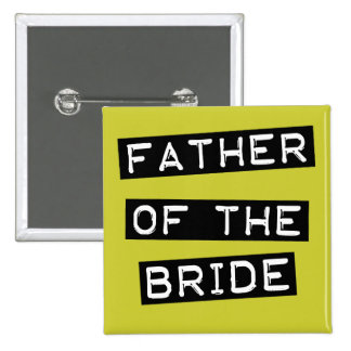 Label Father of the Bride Button