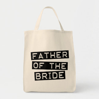 Label Father of the Bride Canvas Bags