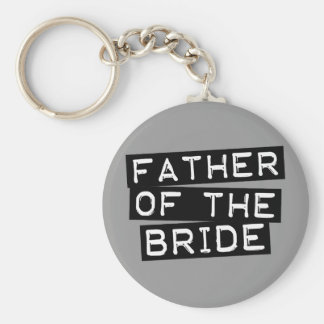 Label Father of the Bride Keychain