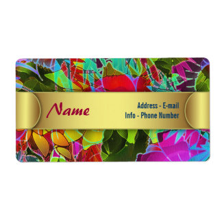 Label Floral Abstract Artwork