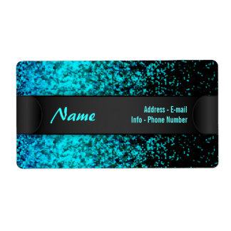 Label Glitter Dust Background Shipping Label