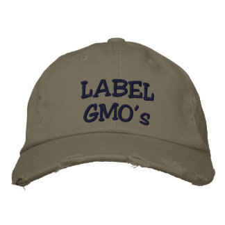 Label GMO's Embroadered distressed hat