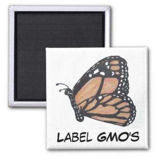 Label GMO's Monarch Butterfly Magnet