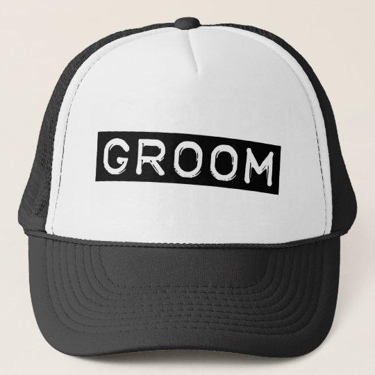 Label Groom Trucker Hat