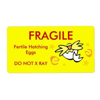 Label - hatching eggs