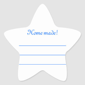 "Label jam blue ""Home made Star Stickers"