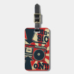 """Label of luggage """"Music On """" Bag Tag"""
