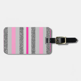 """Label of luggage """"Stripes rose and ash """" Bag Tag"""