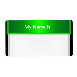 Label Party Name Tag Green