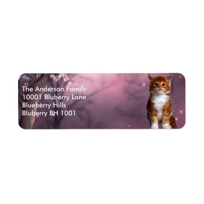 Label Return Address Ginger Cat