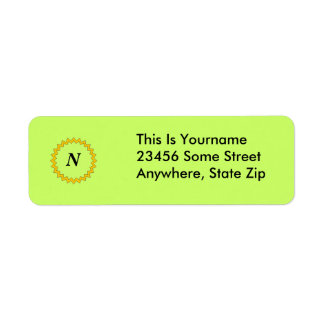 Label, Return - Monogram Label