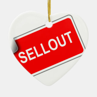 Label Sellout Double-Sided Heart Ceramic Christmas Ornament