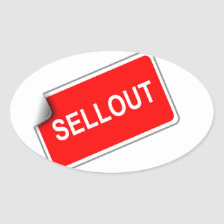 Label Sellout Oval Sticker