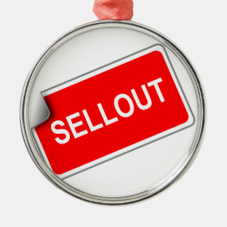 Label Sellout Round Metal Christmas Ornament