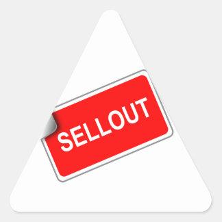 Label Sellout Triangle Sticker
